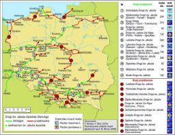 Mapa Dróg Jakubowych w Polsce